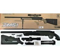 Автомат снайперская винтовка детский CYMA ZM51G с пульками и прицелом