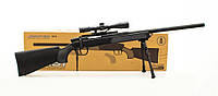 Автомат снайперская винтовка детский CYMA ZM51 с пульками и прицелом