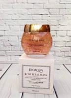 Ночная смягчающая маска BioAqua для лица с лепестками розы Rose Petal Mask, 120г