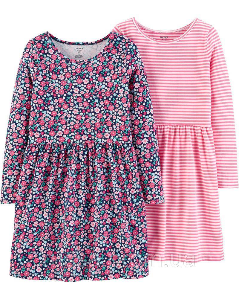 Детские трикотажные платья с длинным рукавом Картерс для девочки (поштучно)