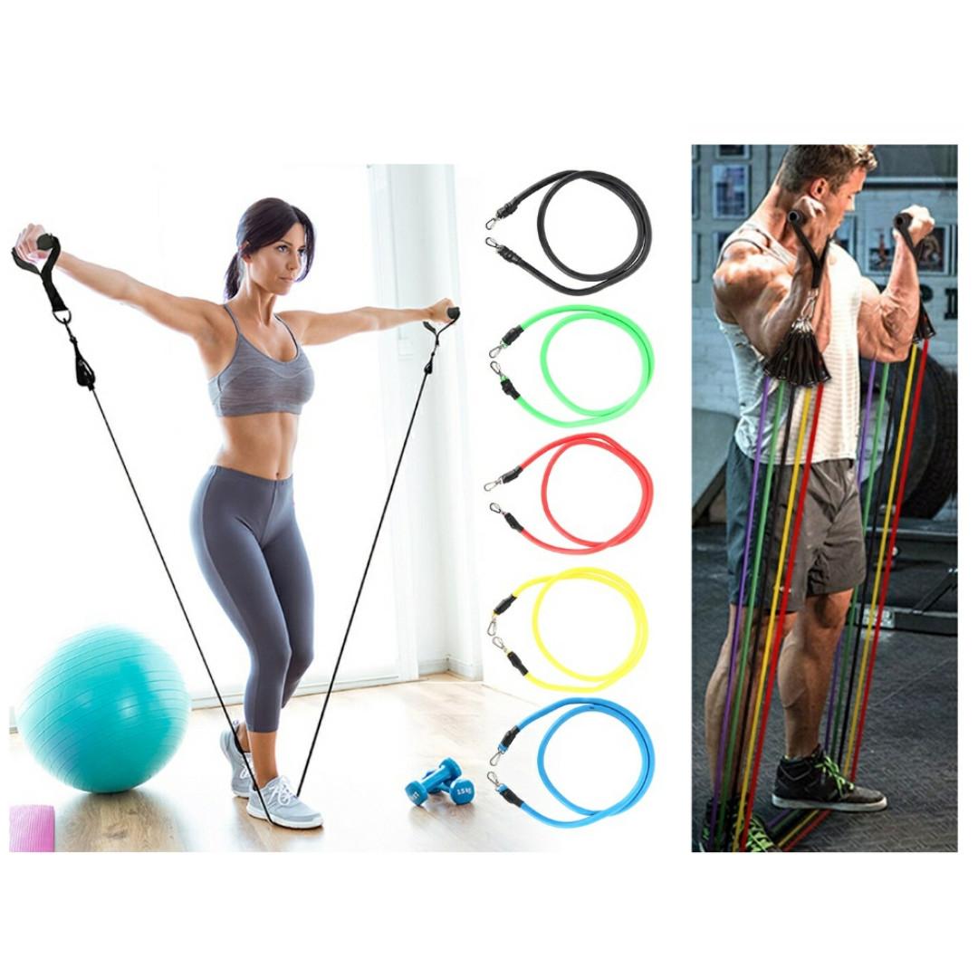Набор эспандеров для фитнеса. (8шт)