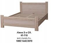 Кровать двуспальная с ламелями Меркурий КТ-710  (БМФ) 1660х2070х1000мм