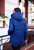 """Стеганая женская демисезонная куртка """"ORIENT"""" с капюшоном (большие размеры), фото 3"""