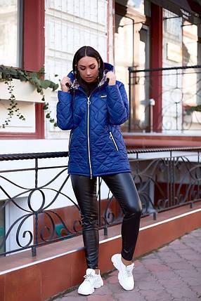 """Стеганая женская демисезонная куртка """"ORIENT"""" с капюшоном (большие размеры), фото 2"""