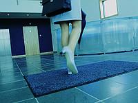 Ковер грязезащитный Хлопок, 90х150см., синий с голубым