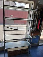 Полка из  узорного стекла и хромированных деталей, фото 1