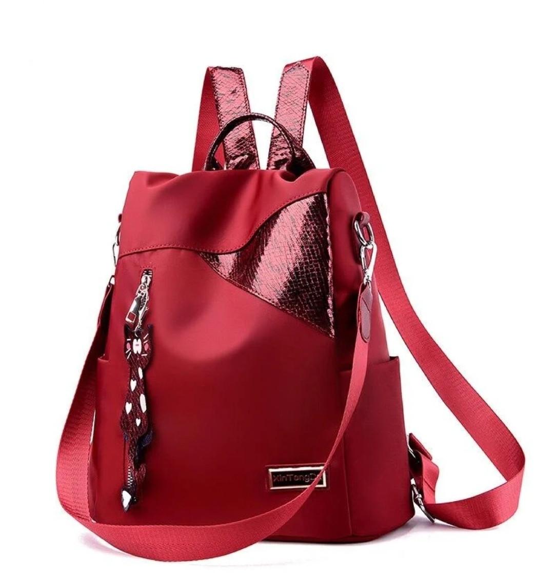 Красный рюкзак женский
