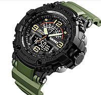 Часы спортивные Skmei 1617 Dual Green (5 bar), фото 1