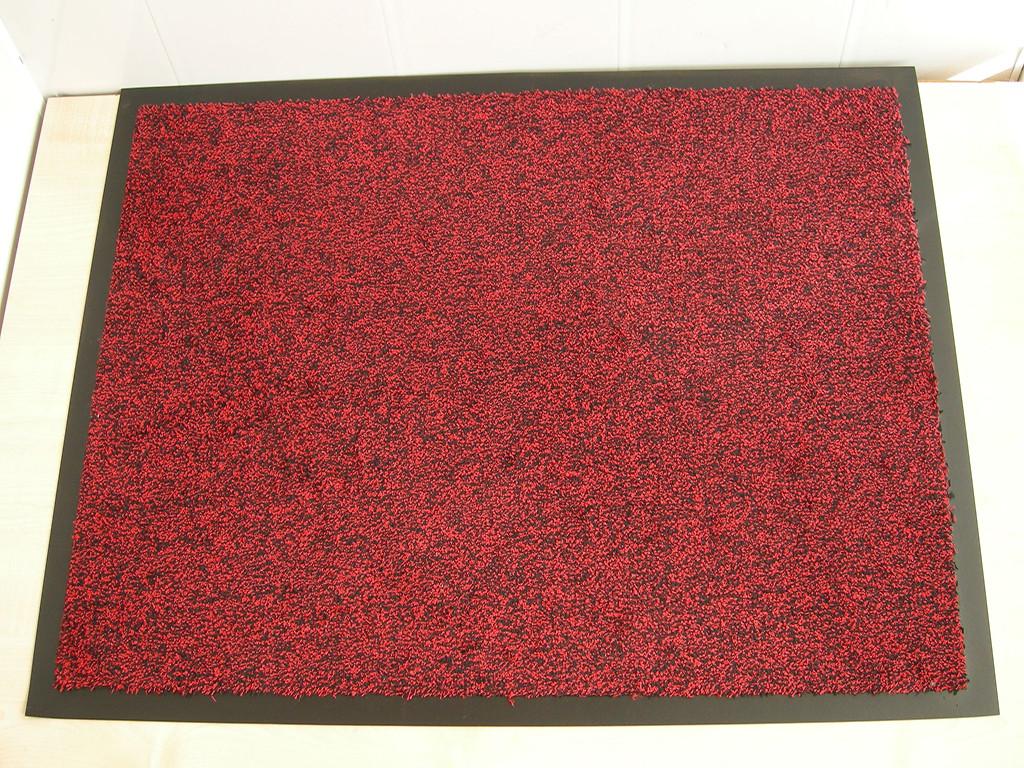 Коврик грязезащитный Хлопок, 40х60см., красный