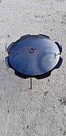 Качественная сковорода из оригинального диска бороны Ромашка 56см + крышка