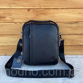 Мужская кожаная сумка с ручкой на и через плечо H.T. Leather