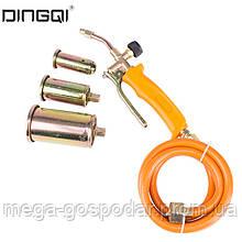 Газовая горелка с 3 наконечниками и шлангом DINGQI