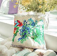 """Мягкая подушечка на стул """"Полевые цветы"""""""