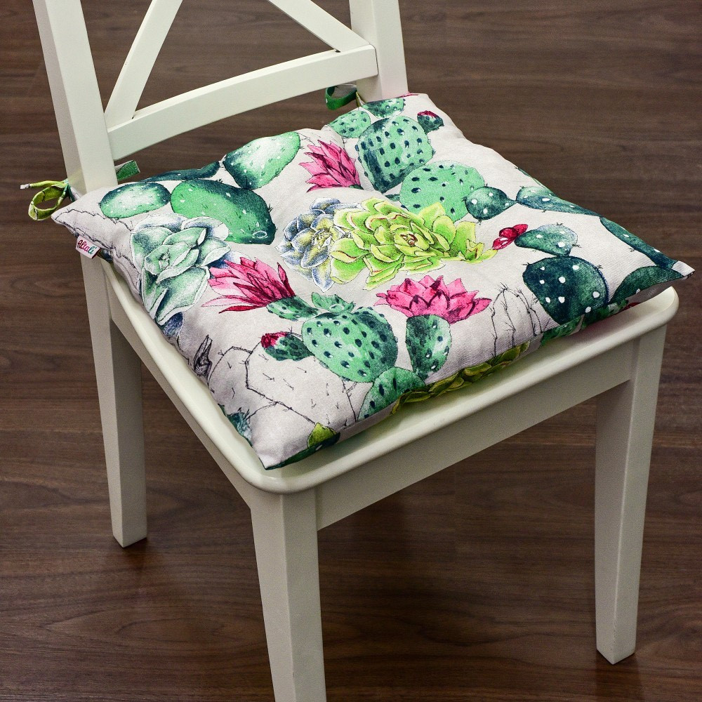 """Мягкая подушечка на стул """"Кактусы"""""""