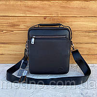 Мужская кожаная вместительная сумка на и через плечо H.T. Leather, фото 3