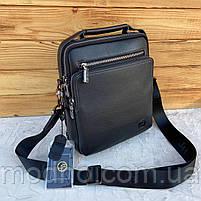 Мужская кожаная вместительная сумка на и через плечо H.T. Leather, фото 4
