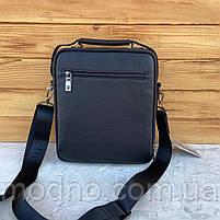 Мужская кожаная вместительная сумка на и через плечо H.T. Leather, фото 6