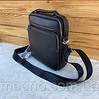 Мужская кожаная вместительная сумка на и через плечо H.T. Leather, фото 5