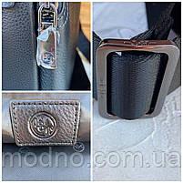 Мужская кожаная вместительная сумка на и через плечо H.T. Leather, фото 8