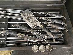 """Эксклюзивный подарок рыбаку на юбилей """"По-щучьему велению"""" с авторскими шампурами, чарками, ножом и секачом, фото 2"""