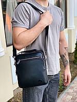 Мужская кожаная вместительная сумка на и через плечо H.T. Leather, фото 2