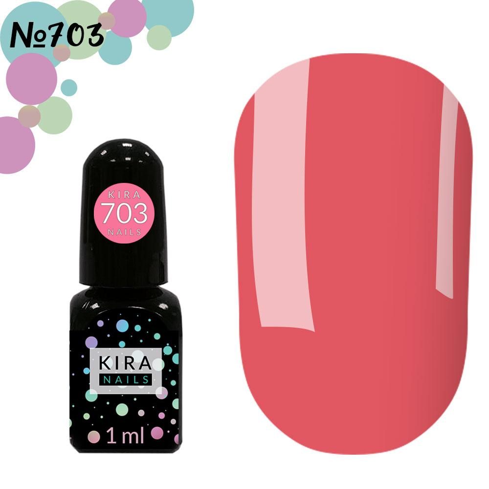Гель-лак Kira Nails Mini №703 (серо-розовый, эмаль)