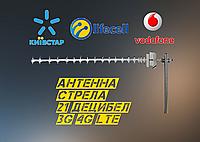 СТРЕЛА направленная антенна 3G 4G LTE GSM 21db для Киевстар Vodafone Lifecell 1700-2170 МГц