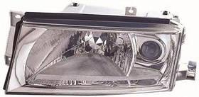 Фара левая Skoda Octavia I (A4) (рестайлинг) 2000 - 2011, электр., H4+H3, с сервоприводом, (Depo,