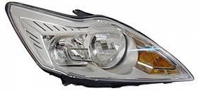 Фара правая Ford Focus II (рестайлинг) 2008 - 2011, электр., H1+H7, светлый корпус, с сервоприводом, (Depo,