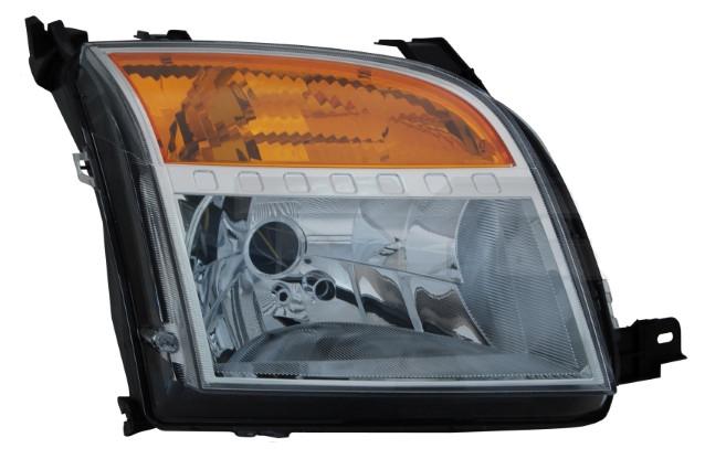 Фара права Ford Fusion (рестайлинг) 2005 - 2012, електр., жовтий повортник + сервопривід, (TYC, 20-12183-06-2)
