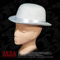 Шляпа белый Котелок карнавальная