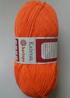 Пряжа для вязания КРИСТАЛЛ  ярко оранжевый 208