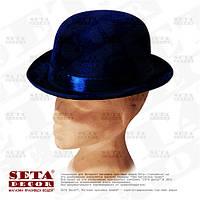 Шляпа синий Котелок карнавальная