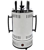 Электрошашлычница вертикальная Domotec BBQ MS-7782, нержавеющая сталь, белая