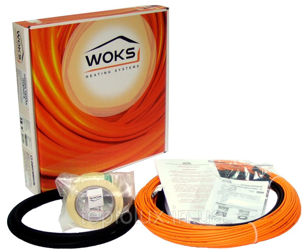 Тонкий кабель под плитку Woks-10, 220 Вт (23м) 1,3-2,5 м2