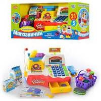 Игровой набор кассовый аппарат Калькулятор, игрушки, Микрофон JOY TOY 7162