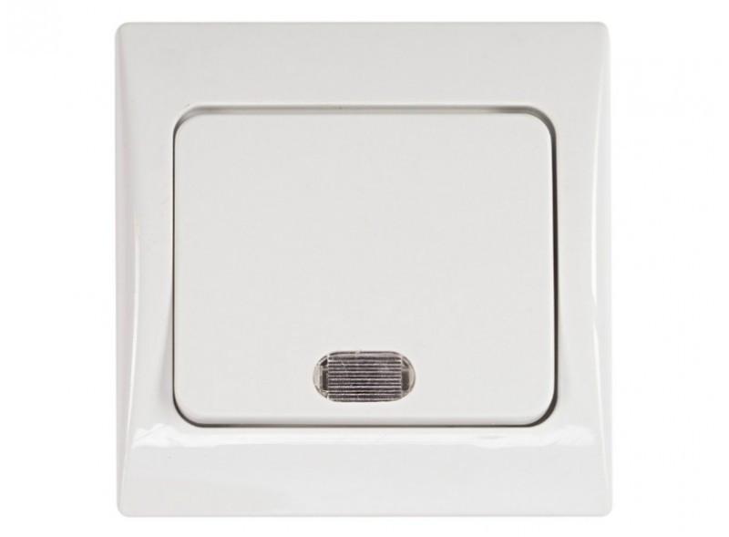 Выключатель с подсветкой Luxel FAIRY (4005) белый