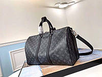 Дорожная сумка Keepall Monogram Eclipse Louis Vuitton (Луи Виттон Кипал Монограмм Эклипс) арт. 03-17, фото 1
