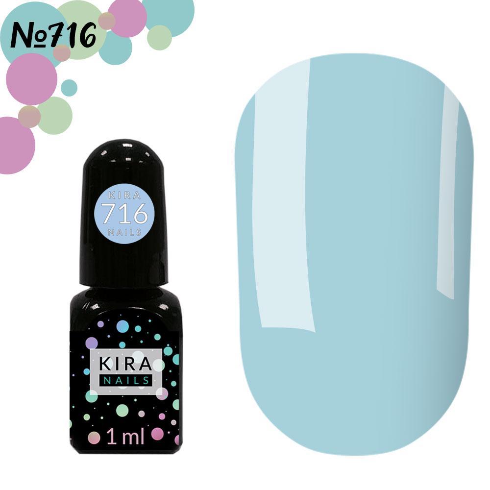 Гель-лак Kira Nails Mini №716 (светло-голубой, эмаль)