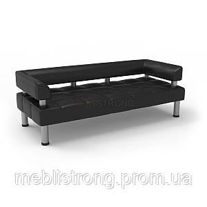 Офисный диван Стронг (MebliSTRONG) -  черного цвета