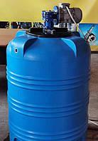 Емкость пластиковая с мешалкой. Химический реактор 350 л.
