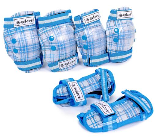 Захист для роликів дитячийнаколінники, налокітники, рукавички Zelart SK-4678 р-S CANDY, блакитний