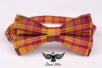 Оранжево-розовая шотландка