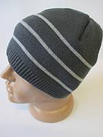 Теплые шапки с полосками, для мужчин.