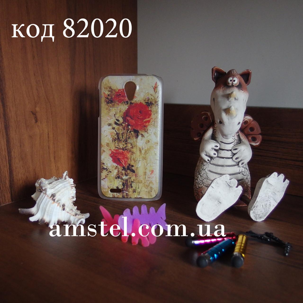 Чехол для lenovo s820 панель накладка с рисунком розы картина