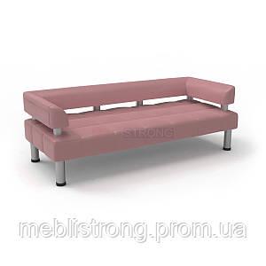 Офисный диван в офис Стронг (MebliSTRONG) - розовый матовый цвет