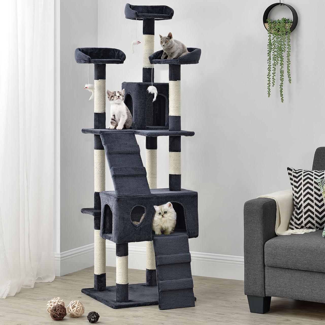 Когтеточка Ами 170см цвет серый Дряпка Домик для кота