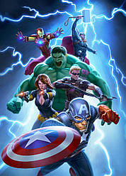Картина GeekLand Avengers Мстители арт графика 40х60см AG.09.032