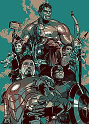 Картина GeekLand Avengers Мстители арт графика 40х60см AG.09.035