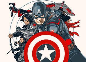 Картина GeekLand Avengers Мстители арт графика 60х40см AG.09.074